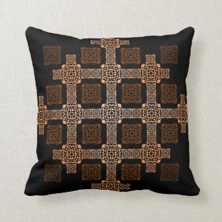 f orange square throw pillow