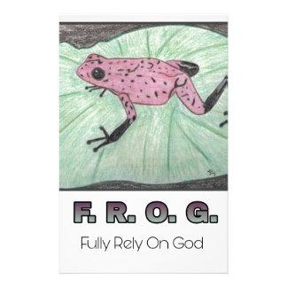 F.R.O.G.- Fully Rely On God Stationery