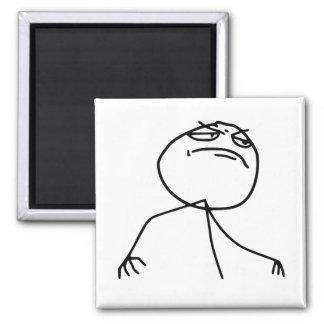 F Yea Rage Face Meme Refrigerator Magnet