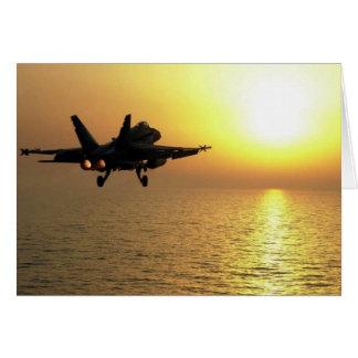 FA-18C ON TAKE-OFF CARD
