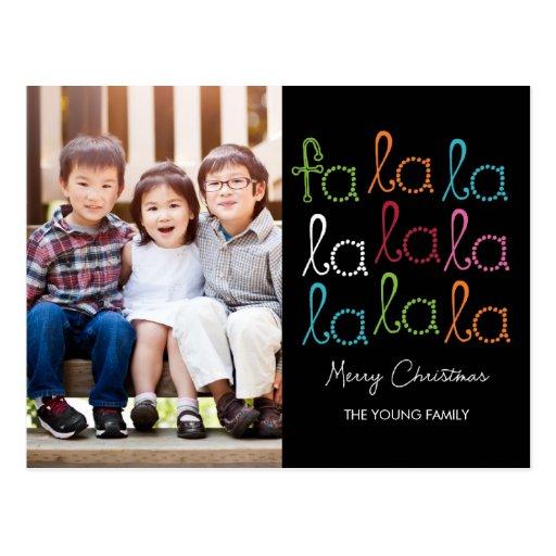 Fa La La Holiday Photo Card Postcard Post Card