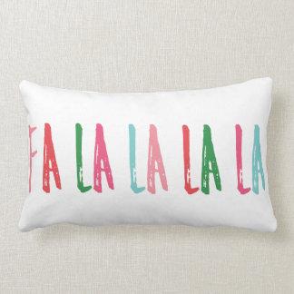 Fa La La La Brush Lettering Christmas Holiday Lumbar Pillow