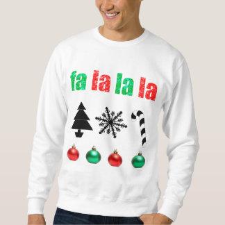 fa la la la Christmas Sweatshirt