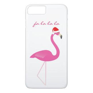 Fa la la la Flamingo iPhone 7 in white iPhone 8 Plus/7 Plus Case