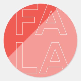 Fa La La Letters Round Sticker