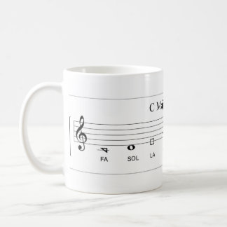 'Fa so la' shape-note major scale The Sacred Harp Coffee Mug