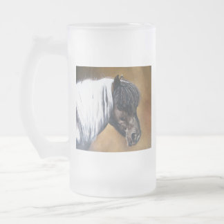 FAA-AfroPony Frosted Glass Beer Mug