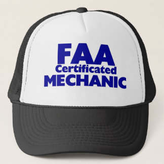 FAA Certificated Mechanic Trucker Hat