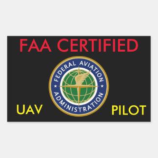 FAA CERTIFIED DRONE STICKER