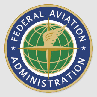 FAA federal aviation administration Round Sticker