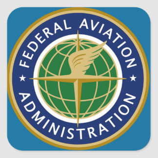 faa federal aviation administration square sticker