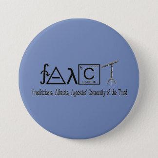 """FAACT Atheist Group Round Button 3"""""""