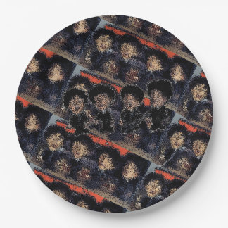 Fab Abstracted Rockers Paper Plate