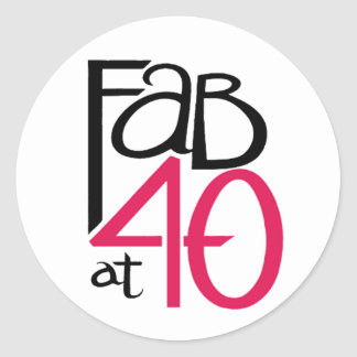 Fab at Forty Sticker