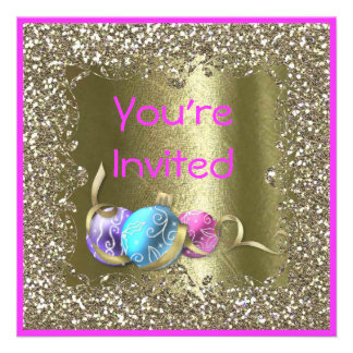 FAB HOLIDAY  BLING PARTY CRYSTAL Invitation