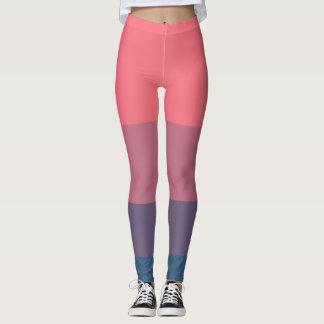 Fab leggings in groovy panel stripes