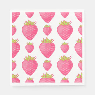 Fab Strawberry Cartoon Design Disposable Napkins