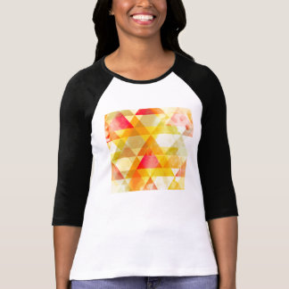 Fab Yellow & Red Triangle Geometric Design T-Shirt