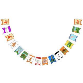 Fable Animals Bunting Flags