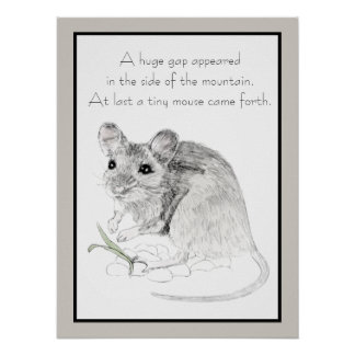 Fable of the Mouse in a Mountain Poster