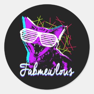 Fabmewlous Kitten Classic Round Sticker