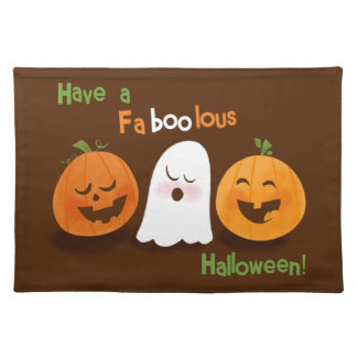 Faboolous Halloween Ghost Cloth Placemat