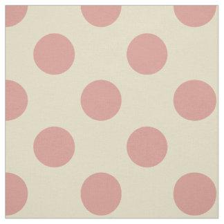 Fabric: Beige & light pink polka dots Fabric