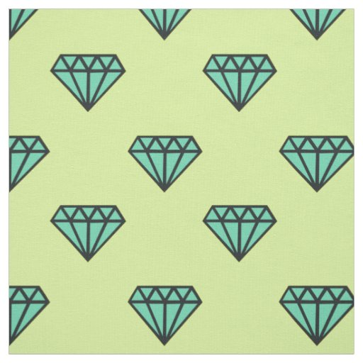 Fabric: Blue, mint diamond pattern Fabric