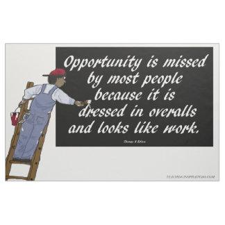 "Fabric Bulletin board ""Opportunity ..."""