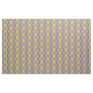 Fabric Cotton Twill purple yellow