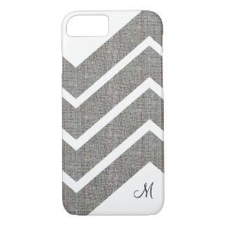 Fabric Denim Chevron Monogram iPhone 7/8 Cases