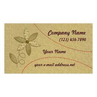Fabric Flower Business Card Template