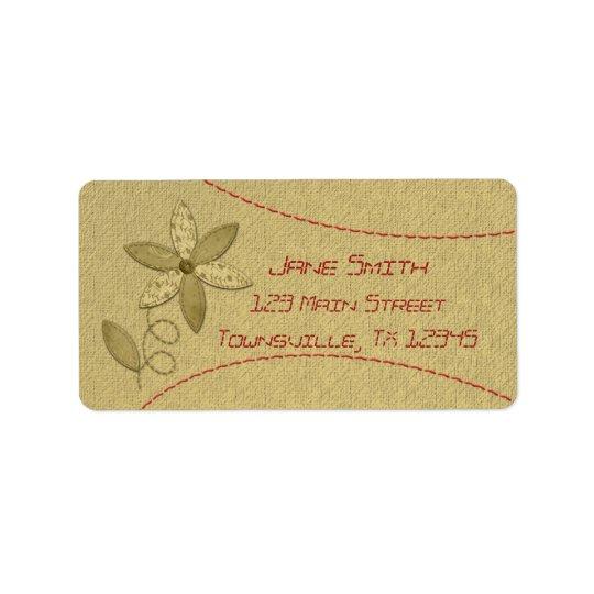 Fabric Flower Label