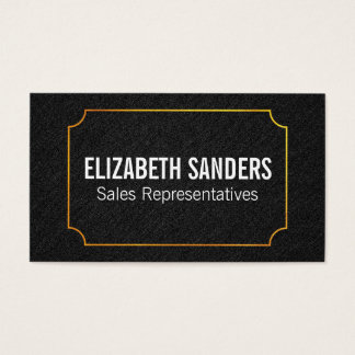 Fabric / Gold Frame Business Card