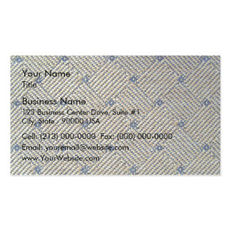 Fabric grid texture business cards