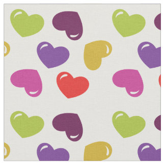 Fabric Hearts Colors