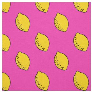 Fabric: Hot Pink & Yellow Lemon Print Fabric