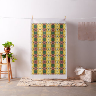 "Fabric: Ivory Linen (54"" width) -yewllow flowers Fabric"
