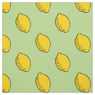 Fabric: Mint Green & Yellow Lemon Print Fabric