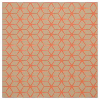 Fabric: Moroccan Star Beige & Orange Fabric