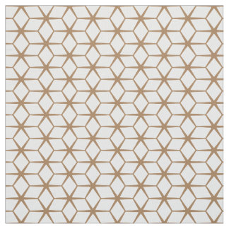 Fabric: Moroccan Star Beige & White Fabric
