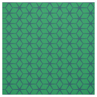 Fabric: Moroccan Star Green & Navy Fabric