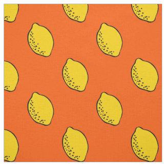 Fabric: Orange & Yellow Lemon Print Fabric