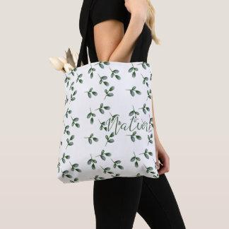 Fabric purse - Nature Leaf - Tote Bag