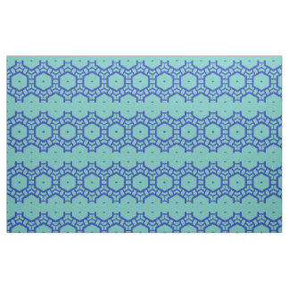 Fabric - Rows of Hexagons in Blue