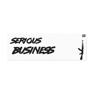 Fabric Serious Collector Business Canvas Print