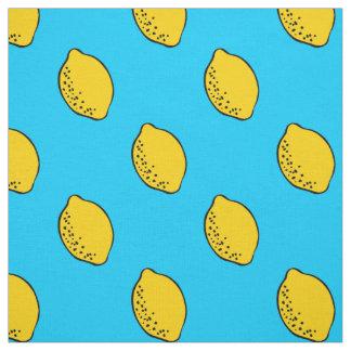 Fabric: Sky Blue & Yellow Lemon Print Fabric