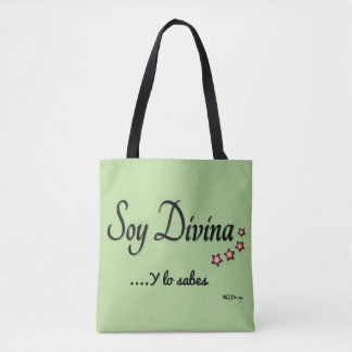 Fabric stock market I am Divine Tote Bag