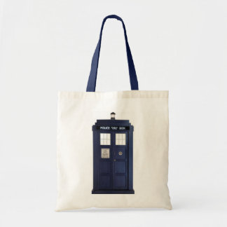 "Fabric stock market ""POLICE BOX "" Bag"