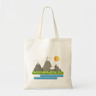 Fabric stock market tote bag